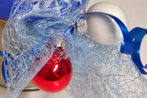 Dekorierter Weihnachtsmarktartikel