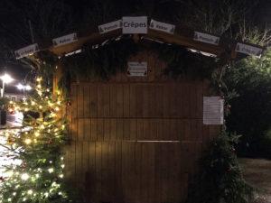 Hütte auf dem Weihnachtsmarkt