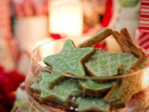 Grüne Kekse zum Naschen